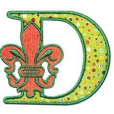 Fleur-De-Lis Applique Embroidery Font by YetiEmb on Etsy