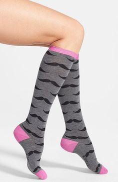 K Bell Socks K. Bell Socks 'Mustache' Knee Socks available at #Nordstrom