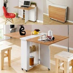 Top 16 Most Practical Space Saving Furniture Designs For Small Kitchen - Furniture - Tiny House Furniture, Smart Furniture, Furniture For Small Spaces, Furniture Design, Furniture Ideas, Office Furniture, Office Desk, Furniture Stores, Multifunctional Furniture Small Spaces