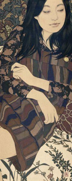 """Talking under nocturne lamp"" Ikenaga Yasunari"