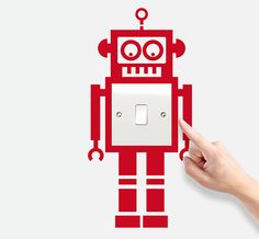 Give your light switch a little more style and character with these new Robot designs