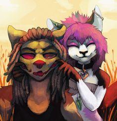 Half-body Comission - Uziel and Aiko