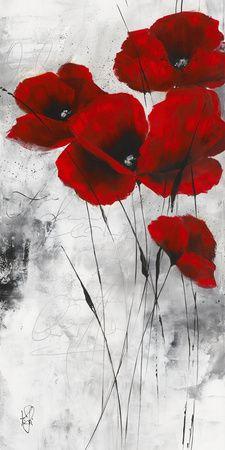 Flores rojas (arte decorativo) Carteles en AllPosters.es