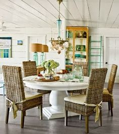 Choosing chairs for coastal dining rooms from Salt Marsh Cottage