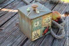 короб яблоки и дача - бирюзовый,деревянный,яблочный,яблочный спас,яблоки