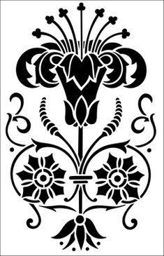 Motif No 42 stencil from The Stencil Library ARTS AND CRAFTS range. Buy stencils online. Stencil code DE150.