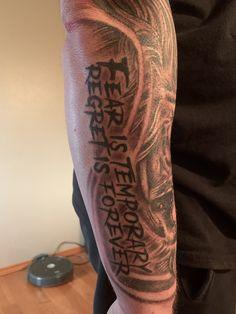 Tricep Tattoos, Forarm Tattoos, Dope Tattoos, Half Sleeve Tattoos Drawings, Forearm Sleeve Tattoos, Fear Tattoo, I Tattoo, Black Panther Tattoo, Brother Tattoos