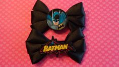 BATMAN Hair Bow Set, Hair Accessory, Super Hero, Comics, Bat Signal, JLA, Bruce Wayne by forbiddenfruit on Etsy
