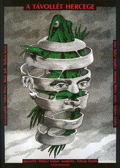 A Tavollet Hercege (1991).Hungary. Director: Tamás Tolmár.Film poster by  István Orosz.