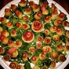 Rose in pasta con mortadella