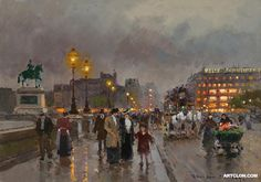 Edouard Leon Cortes Pont neuf Painting Reproduction On Artclon For Sale | Buy Art Reproductions Pont neuf