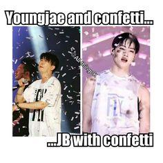 Haha Youngjae; JB♡♡