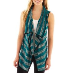 Society Girl Sleeveless Hatchi Knit Striped Vest  found at @JCPenney