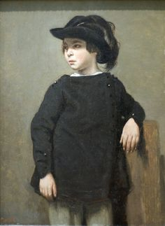 Portrait of a Child, 1835  Camille Corot (French, 1796–1875) Title Portrait of a Child Date ca. 1835 Medium Oil on wood Dimensions12 5/8 x 9 1/4 in. (32.1 x 23.5 cm)