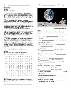 A reading selection about the planet Mercury with