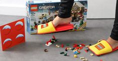 Slippers take pain out of standing on Lego #Lego, #News, #Shoes