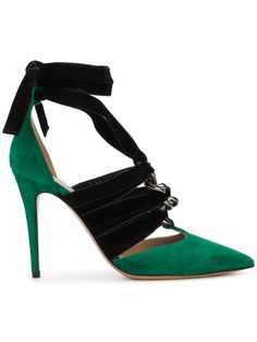 Valentino contrast pointed pumps