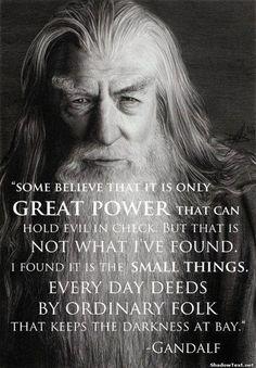 Gandalfs wisdom