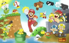.:Super Mario Brothers 1985:. by 6GonzaloCortez4 on DeviantArt