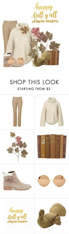 """Thanksgiving Comfort"" by celestialstyles7408 ❤ liked on Polyvore featuring Sole Society, Victoria Beckham and Cricut"
