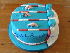 Pool Party Cakes, Pool Cake, Cake Icing, Eat Cake, Cupcake Cakes, Swimmer Cake, Sport Cakes, Novelty Cakes, Cakes For Boys