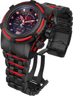 4114588be INVICTA JT Men 53mm Stainless Steel Black + Red Black dial 8040.N Quartz.  KaryashendamwijuruItogoro MwineRutatizibwabwengye