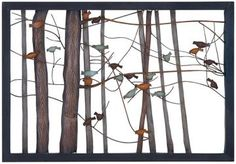 Birds on Branches Metal Wall Decor