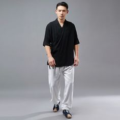 Asian Style Long-sleeved Autumn Men LInen Tunics