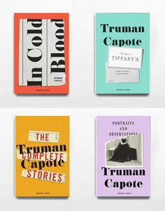 Truman Capote book series design by Eric White. Art direction: Greg Mollica. (Modern Library, 2013.)