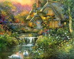 thomas kinkade | Thomas Kinkade Paintings, Thomas Kinkade Painting 23.jpg