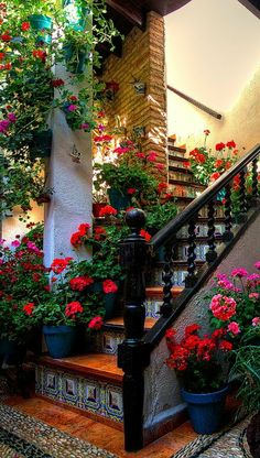 18 wunderschön bemalte Treppen aus aller Welt 18 beautifully painted stairs from all over the world, Beautiful Gardens, Beautiful Homes, Beautiful Flowers, Beautiful Places, Beautiful Stairs, Spanish Style Homes, Spanish House, Style Hacienda, Mexican Hacienda