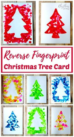 Have your kids make an easy homemade reverse fingerprint Christmas tree card to share with your friends and family this holiday season. Making one will give you two cards that can be made into a keepsake gift. DIY kid-made cards like this make a unique and special gift to treasure for years to come.