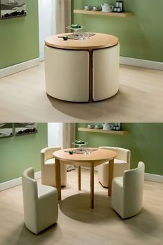 home decor for small spaces Small Space Living: 25 Design Tricks To Enhance Small Homes Space Saving Furniture, Cool Furniture, Modern Furniture, Furniture Design, Compact Furniture, Furniture Ideas, Folding Furniture, Furniture Makeover, Minimalist Furniture