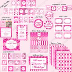 DIY Preppy Couture Birthday Collection PRINTABLE by CupcakeExpress