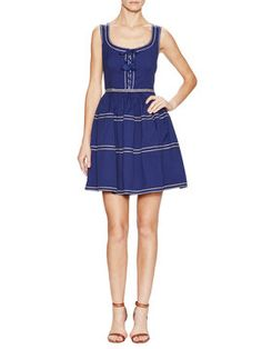 Cotton Contrast Lace-Up Dress from Spring Trend: Spanish Lesson on Gilt