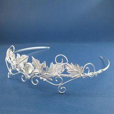 Celtic Faery Leaves Wedding Circlet Headpiece Bridal by Camias, $300.00