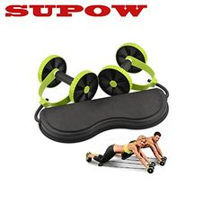 SUPOWTM Slimming Abdominal Workout Machine Ab Roller Abdominal Waist Exercise Equipment Waist Slimming Trainer with Double Wheels  Pull Rope for Abdominal Exercise *** You can find out more details at the link of the image.
