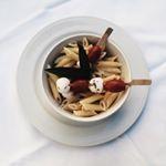 LUNCH  Penne bio  sans gluten au gorgonzola  la crme de soja et feuilles de…