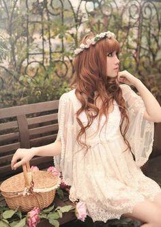 Modern hippie flower girl, boho chic style. For the BEST Bohemian fashion trends of 2015 FOLLOW > https://www.pinterest.com/happygolicky/the-best-boho-chic-fashion-bohemian-jewelry-gypsy-/ < now