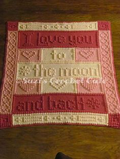 Ravelry: Moon & Back Bobble Blanket pattern by Suzi Berryhill                                                                                                                                                                                 More