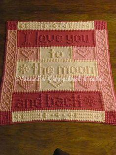 Ravelry: Moon & Back Bobble Blanket pattern by Suzi Berryhill                                                                                                                                                                                 More