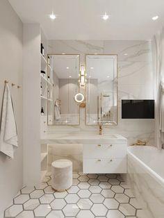 Classic Bathroom, Bathroom Interior, Bathroom Design Decor, Elegant Bathroom, Bathroom Design Luxury, Concrete Interiors, Bathroom Design Small, Bathroom Interior Design, Bathroom Design