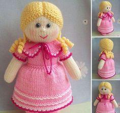pembe elbiseli örgü kız