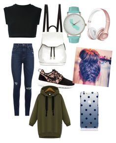 """High Schooler on Tuesday"" by lizzie708 ❤ liked on Polyvore featuring NIKE, Paige Denim, adidas Originals, rag & bone, Olivia Pratt, Kate Spade, WithChic, women's clothing, women and female"