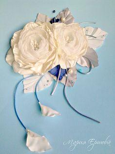цветы на пояс для свадебного платья