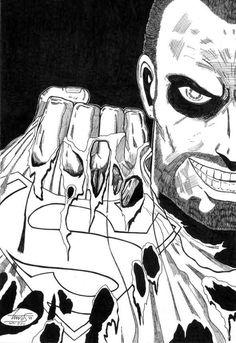 Este es un viejo dibujo del villano de Superman, el general Zod! Fue uno de mis primeros intentos de colorear con el Photoshp. Espero que lo...