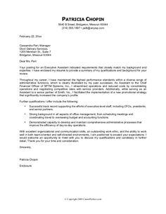 Cover Letter Format  Creating An Executive Cover Letter Samples