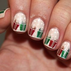 christmas by kelsiesnailfile #nail #nails #nailart