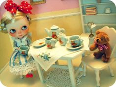 Sunday tea party with Teddy