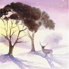 Katharine Asher, watercolor Looks like a Christmas card